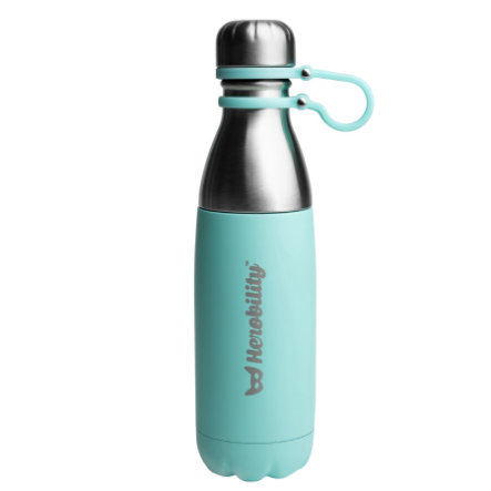 Herobility Gourde isotherme HeroGo turquoise 500 ml