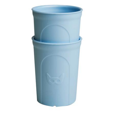 Herobility Verre enfant HeroEcoGlass 140 ml bleu lot de 2