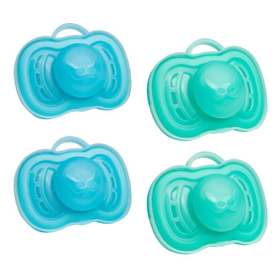 Herobility Fopspeen Pacifier 0-6 maanden 4 stuks blauw/turquoise
