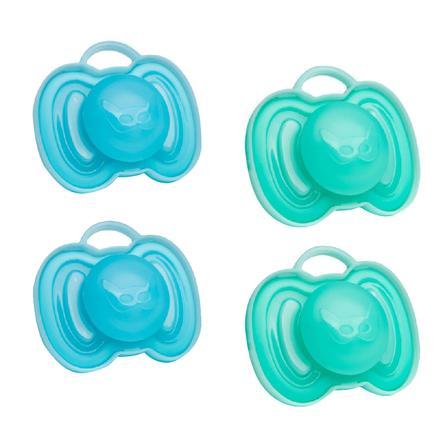 Herobility Sucette orthodontique HeroPacifier 6 m+ bleu/turquoise lot de 4