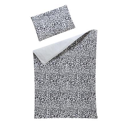Schardt Parure de lit enfant 2 pièces Leo Grey 100x135 cm