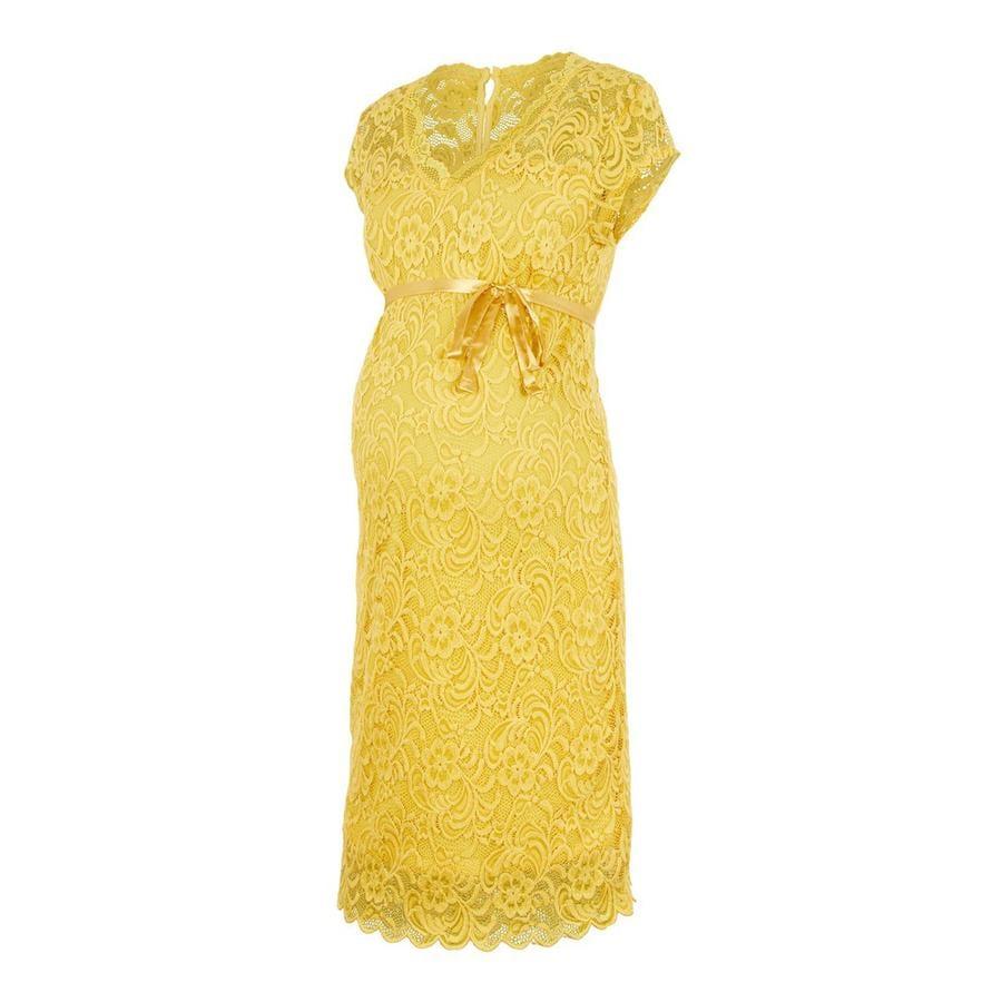 mama;licious Robe de maternité MLNEWMIVANA Cream Gold