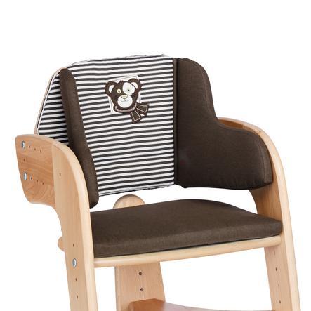 HERLAG Polstrování do jídelní židličky Tipp Topp Comfort hnědé/hnědo-bíle proužkované