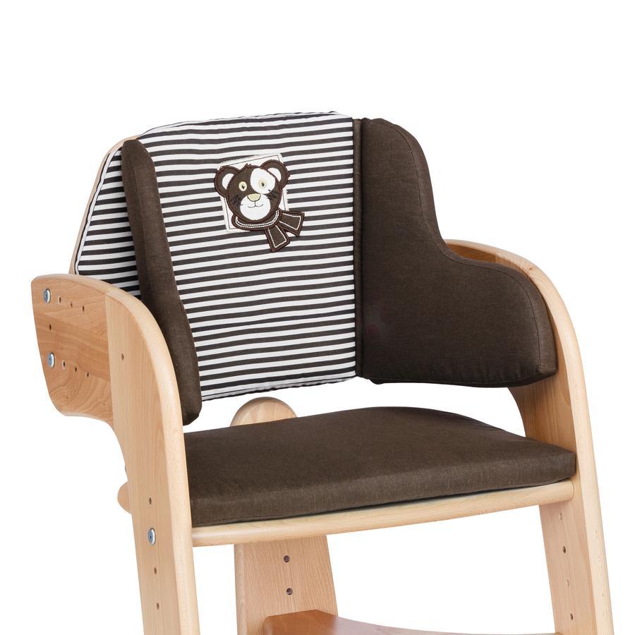 Herlag Sitzpolster für Tipp Topp Comfort braun/braun weiß gestreift