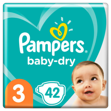 Pampers Couches Baby Dry T.3 Midi 42 pièces 6-10 kg pack éco