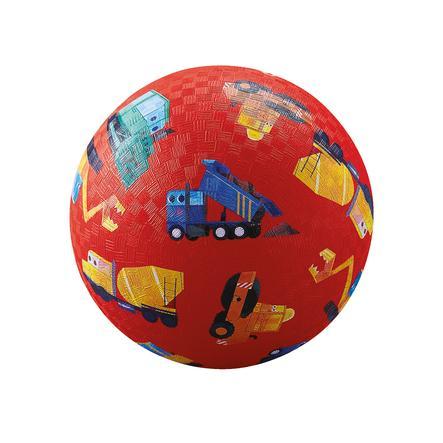 Crocodile Creek ® Play ball 18 cm - byggekøretøjer