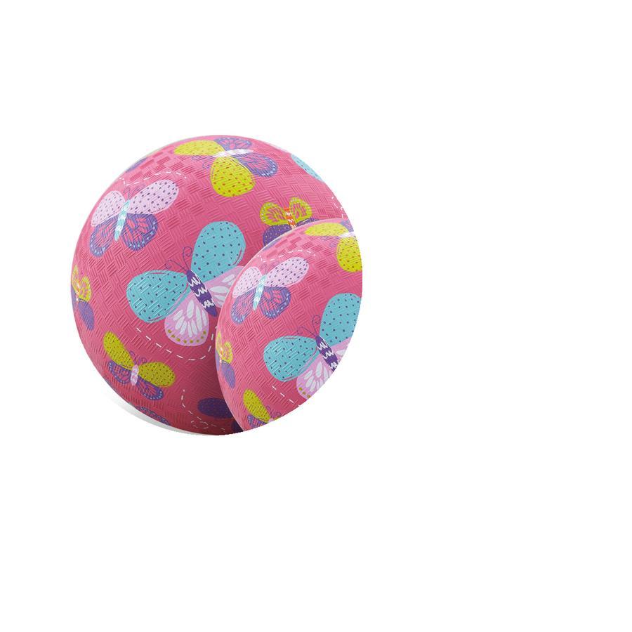 Crocodile Creek® Spielball 18 cm - Rosa Schmetterlinge
