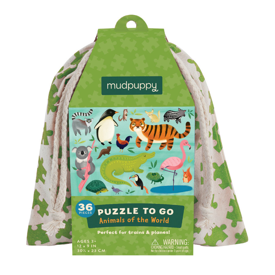 mudpuppy Puzzle To Go - Tiere unseres Planeten