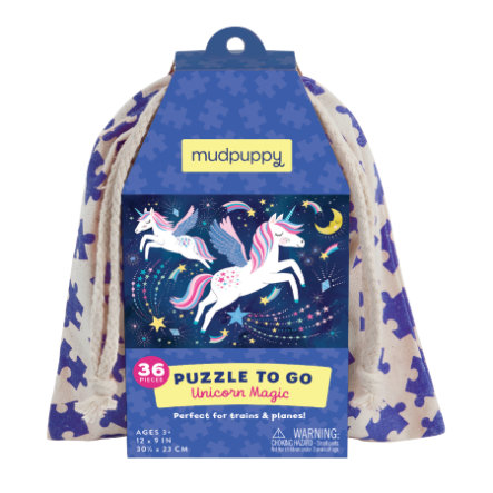 mudpuppy Puzzle To Go - Unicorn Magic