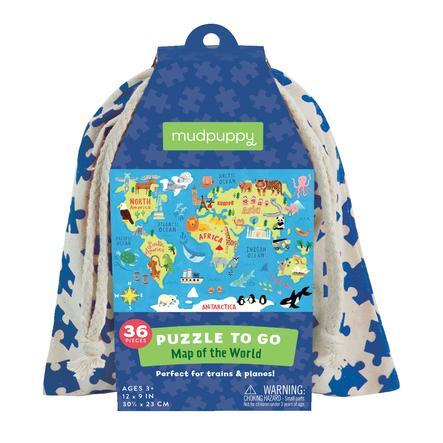 mudpuppy Puzzle To Go - verdenskart