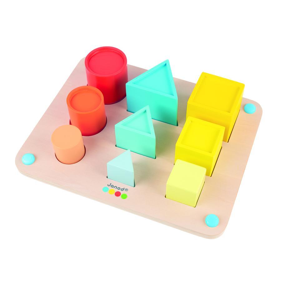 Janod ® Essentieel stapelen en vormen van spel
