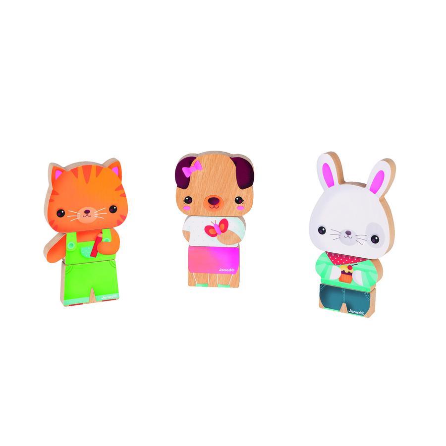 Janod ® Magnetyczne figurki - zwierzęta domowe