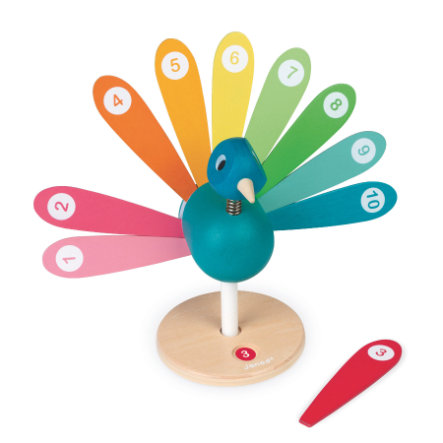 Janod ® Counting game peacock