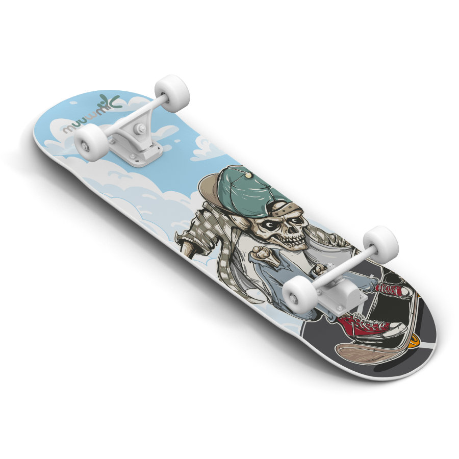 AUTHENTIC SPORTS Skate board muuwmi ABEC 5, Skull