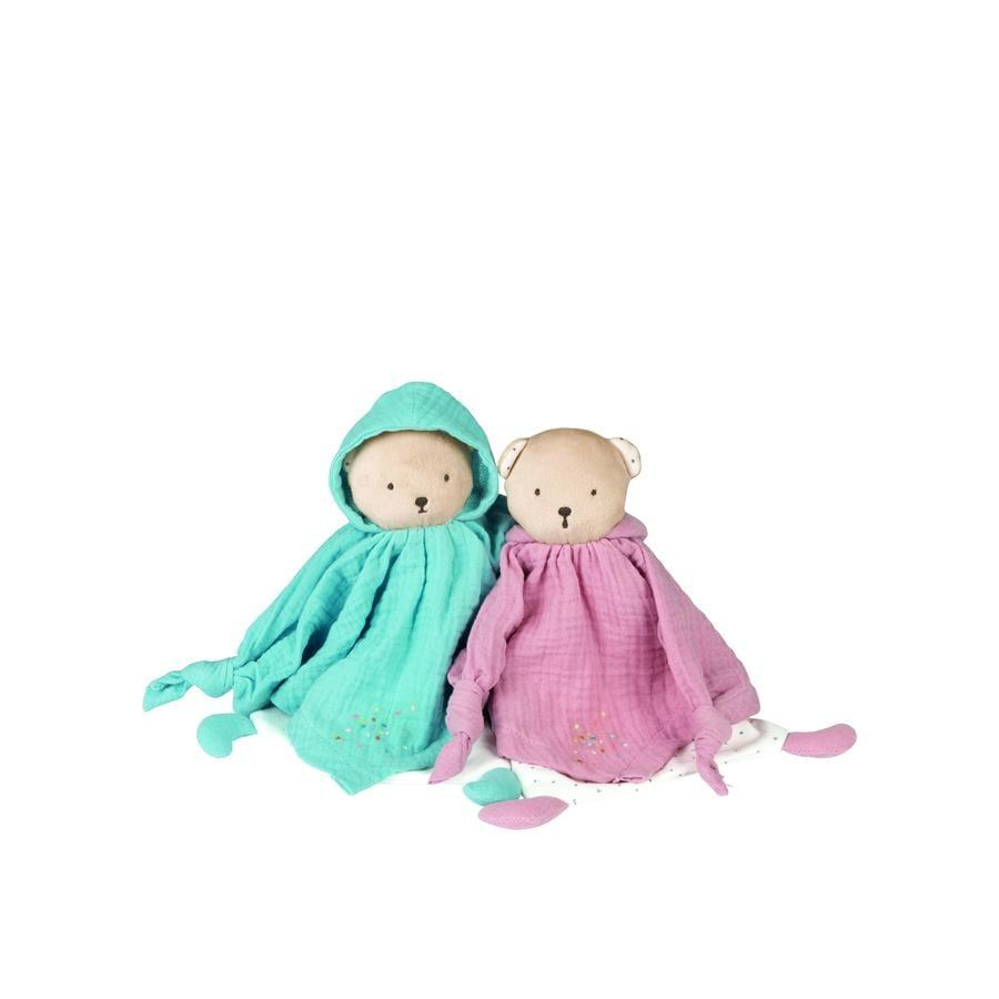 Kaloo® Doudou ourson Petits Pas rose coton bio