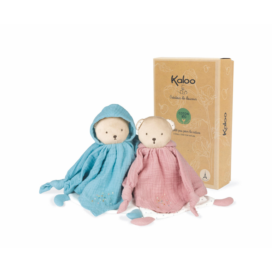 Kaloo ® Petit s Pas - Panno da coccole orso rosa