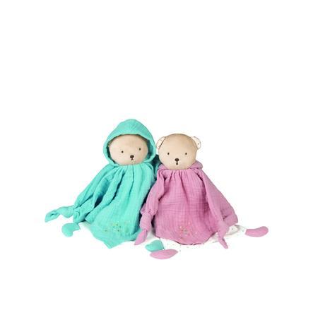 Kaloo ® Petit s Pas - Knuffeldoekje dragen blauw