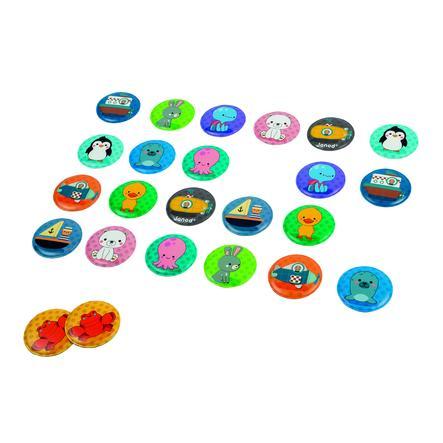 Janod ® Bath Memory leketøy - spill, 24 deler