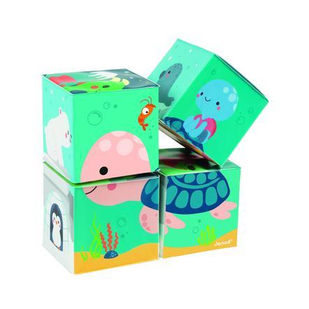 Janod® Badespielzeug Motivwürfel 4 Stück