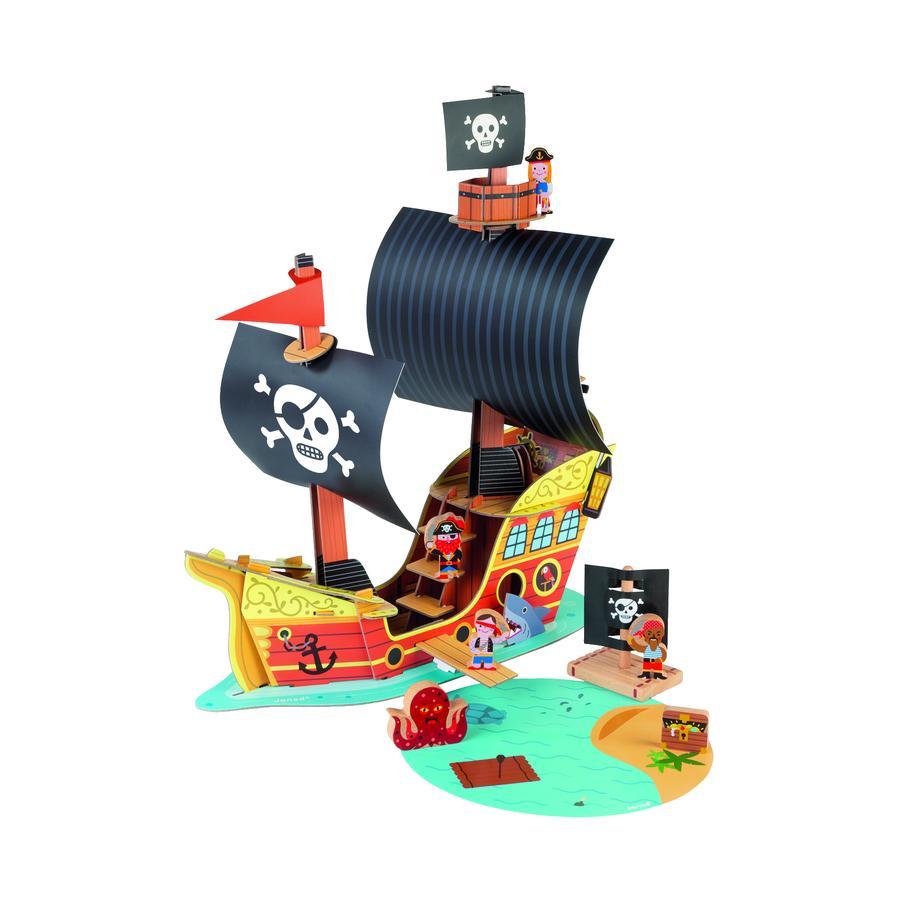 Janod ® Story Building Set Barco Pirata