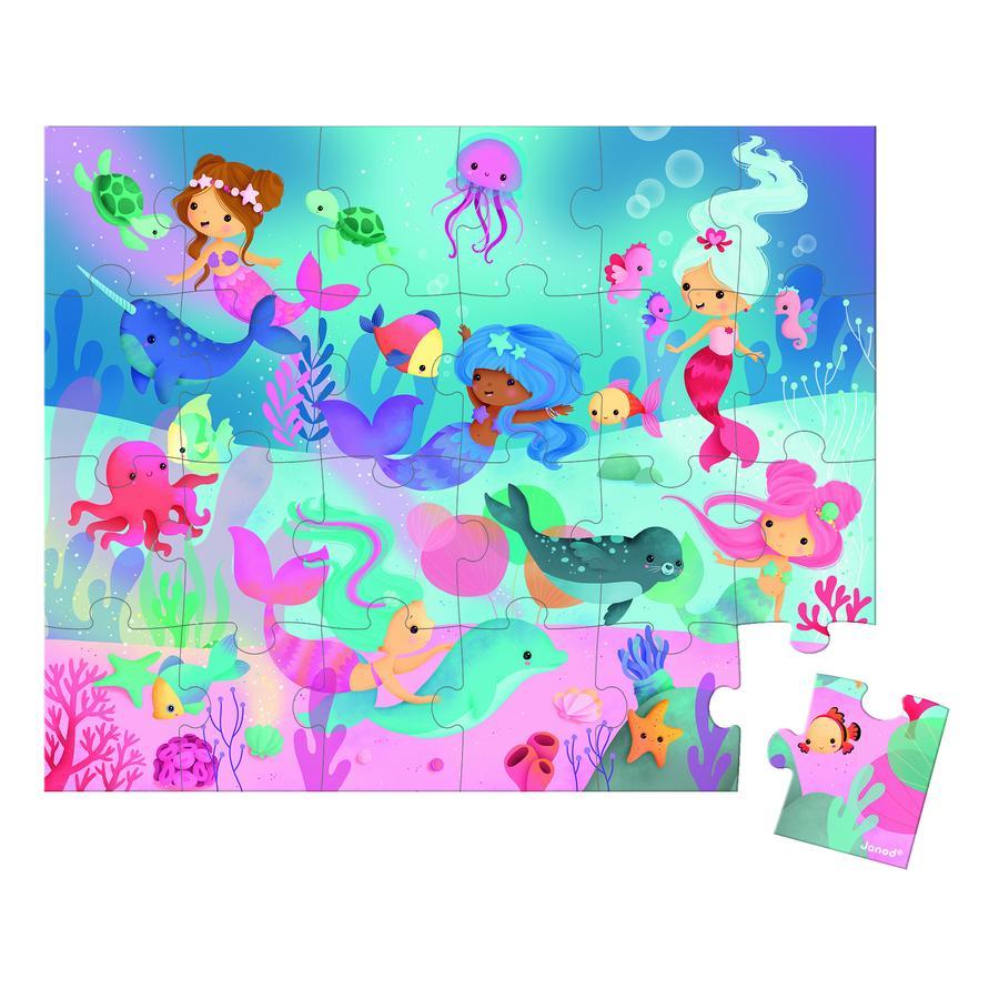 Janod® Puzzlekoffer Meerjungfrauen, 24 Teile