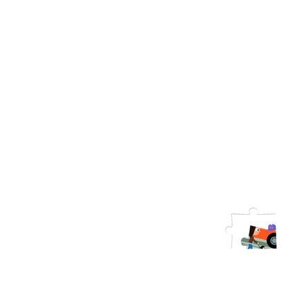 Janod ® Puzzle sagfeer og vannliljer, 36 stk