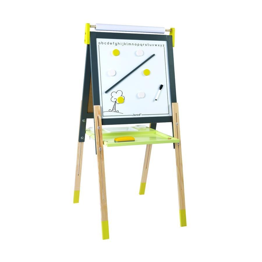 Janod® Magnet- und Kreidetafel, gelb/grau