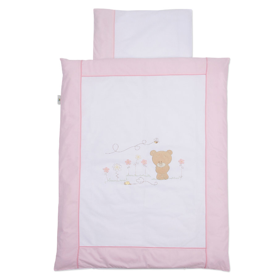 Easy Baby Bäddset 80x80 cm Honey bear rose (410-42)