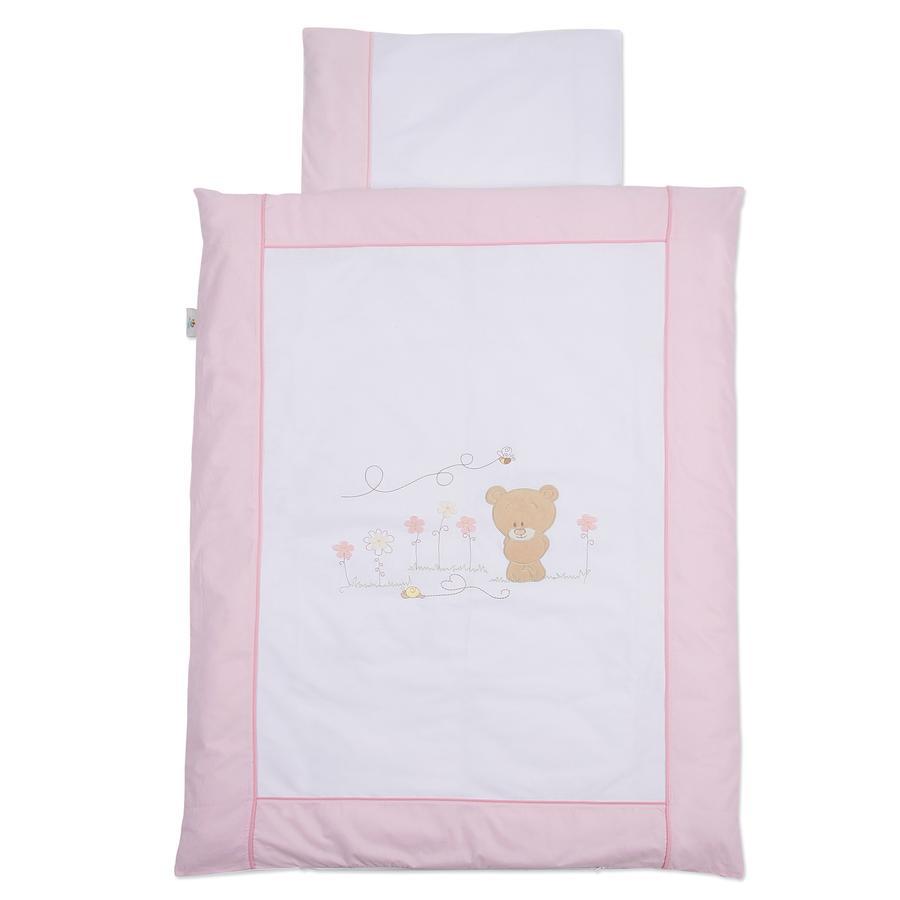 Easy Baby Juego de sábanas 80x80cm Honey bear rosa (410-42)