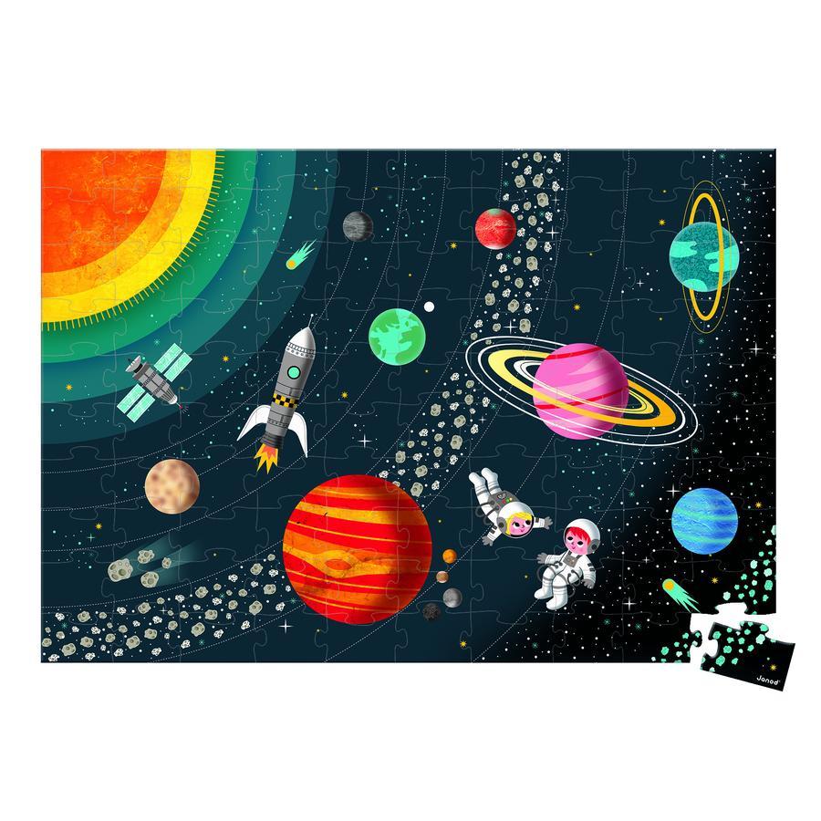 Janod ® Educatieve puzzel zonnestelsel, 100 stuks