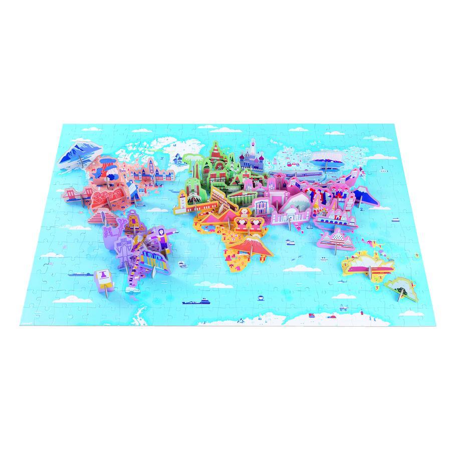 Janod® Edukativ-Puzzle Sehenswürdigkeiten, 350 Teile