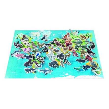 Janod Puzzle educativo - animales en peligro de extinción - 200 piezas