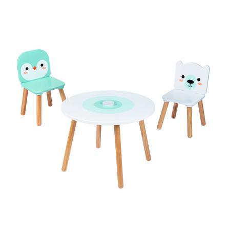 Janod® Tisch- und Stuhlset - Arktis - 3-teilig