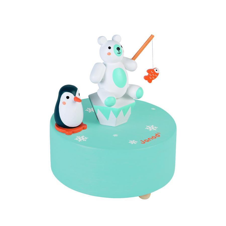 Janod® Spieldose Eisbär mit Pinguin