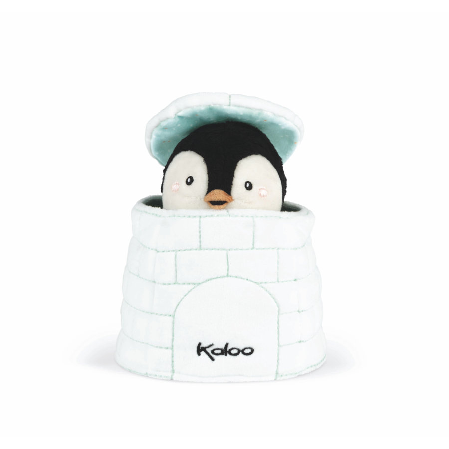 Kaloo® Kachoo Handpuppe Pinguin Gablin im Iglu