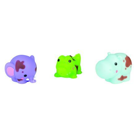 Janod® Badespielzeug Wasserspritzer - Tiere zum Saubermachen 3 Stück