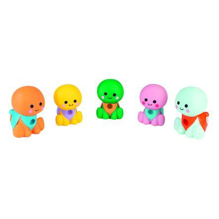 Janod® Badespielzeug Wasserspritzer - Schildkrötenfamilie 5 Stück