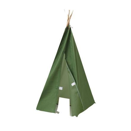 Kids Concept® Tipi pour poupée mini, vert bois
