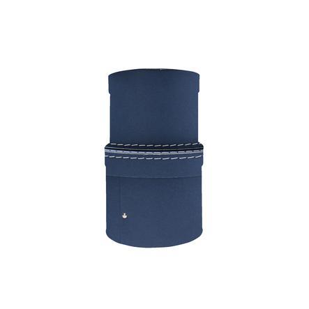 Kids Concept® Boîte de rangement ronde bleu, lot de 2