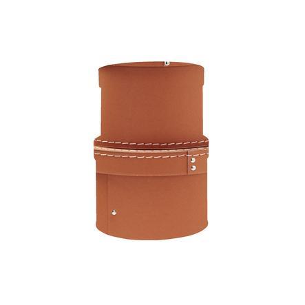 Kids Concept® Boîte de rangement ronde brun, lot de 2