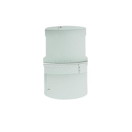 Kids Concept Boite De Rangement Ronde Turquoise Lot De 2 Roseoubleu Fr