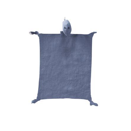 Kids Concept® Kuscheltuch Dino Leinen 24x26 cm, blau