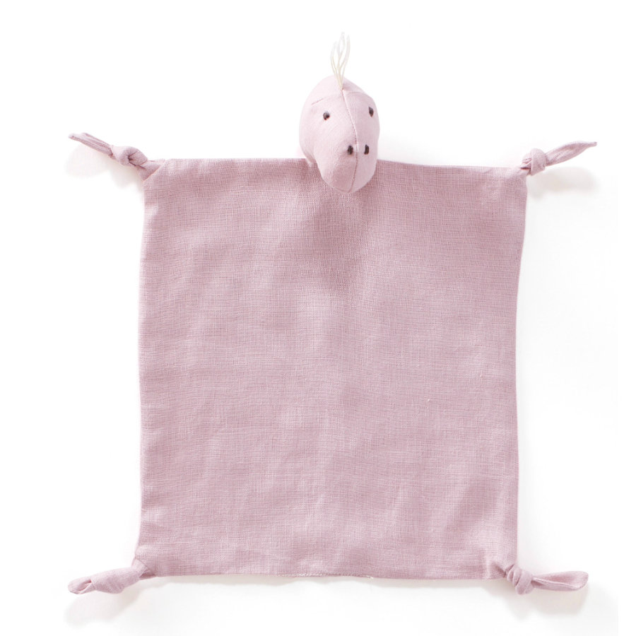 Kids Concept ® tela para abrazar Dino lino 24x26 cm, rosa