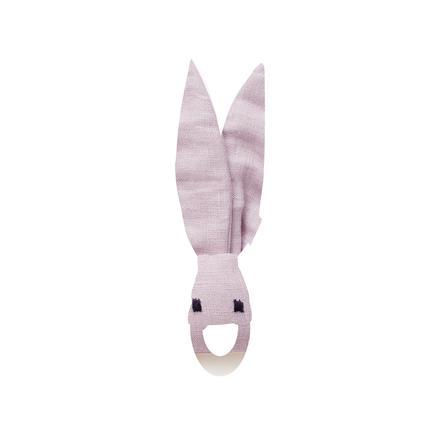 Kids Concept ® Kroužek na kousání králík, růžový