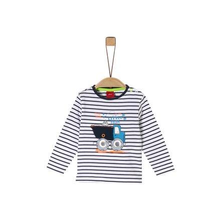 s. Oliv r Långärmad skjorta marinblå ränder