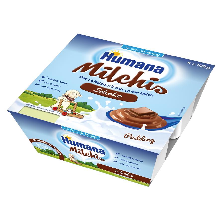 HUMANA Milchis Pudding Schoko 4x100g