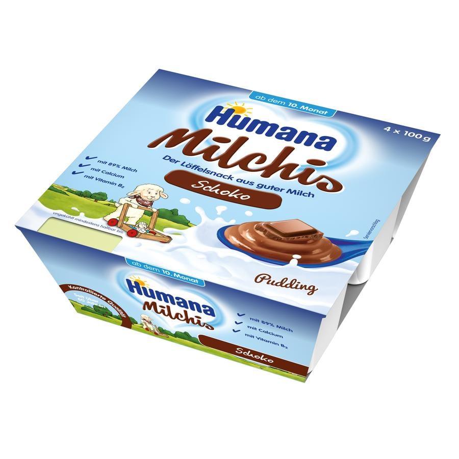 Humana Milk Dessert Chocolate Custard 4x100g