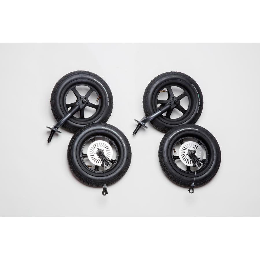 tfk Kit roues gonflables pour poussette Duo Schwalbe noir 4 pièces