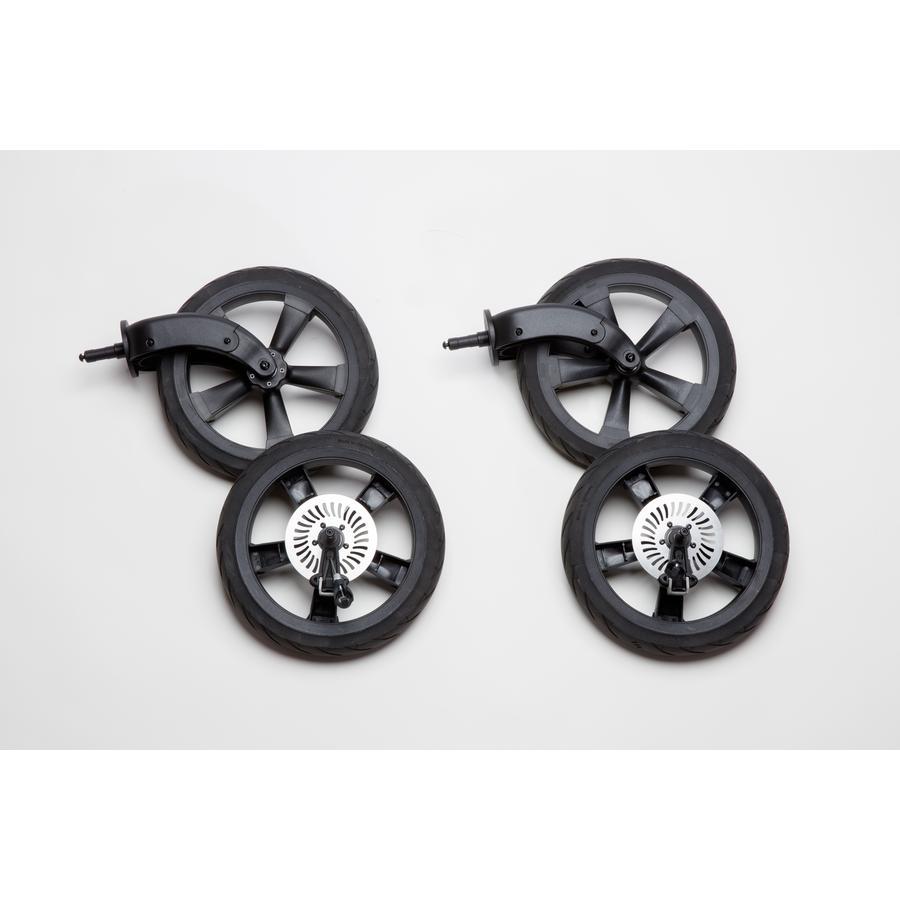 tfk Kit roues gonflables pour poussette Duo Schiel noir 4 pièces