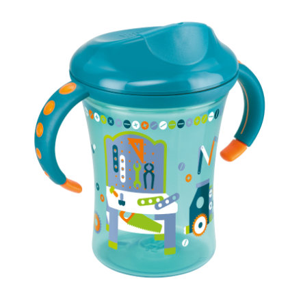 NUK Easy Learning Trainer Cup, tvrdší pítko, 250 ml, petrol